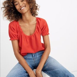 Texture and Thread Peasant Top by Madewell